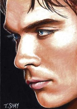 Damon-The Vampire Diaries Card by Dr-Horrible