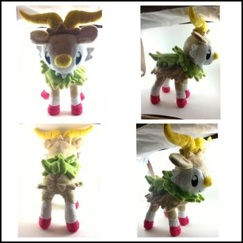shiny skiddo plush by LRK-Creations