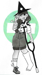 Inktober day 20: unBreakable + Medic Witch by Dalblauw