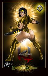 B Orchid golden costume by CarbertArtwork