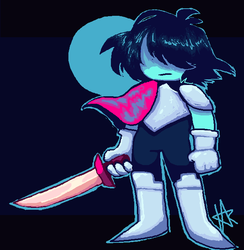 Child with very big knife by Plantaplants