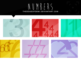 Numbers Texture Pack by TheEdgeOfDemi