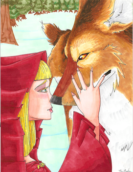 Red And the Wolf by UglyCoyoteNG