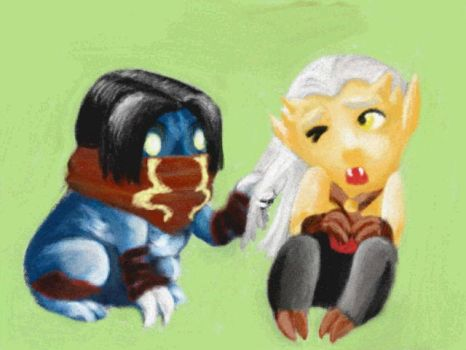 Chibi Kain and Raziel by StreakdWindowPaine