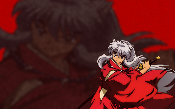 InuYasha Wallpaper by superzproductions