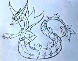 Project Fakemon: Mega Serperior by XXD17