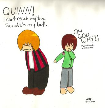 Quinn and Pokey by MotherOC-Aipe