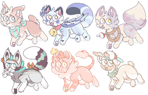(CLOSED - SET PRICE) Tiny Adopts! by westiefest
