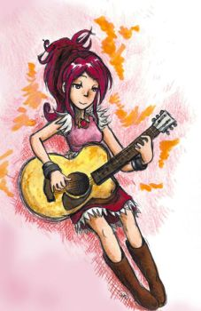 Wistful Guitar by sweet-suzume