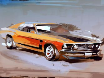 '69 Mustang BOSS302 by airgee