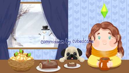 Commission: Penapple's Winter End card by CubedCake