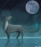 Moon Wolf by Captain-Zeko