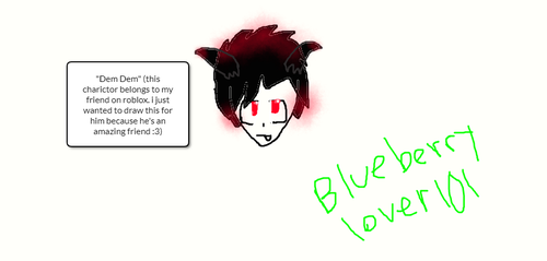 Dem dem (one of my roblox friend's charictors) by BlueberryLover101MTW