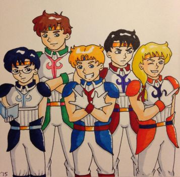 Sailor soldiers by Marle1010