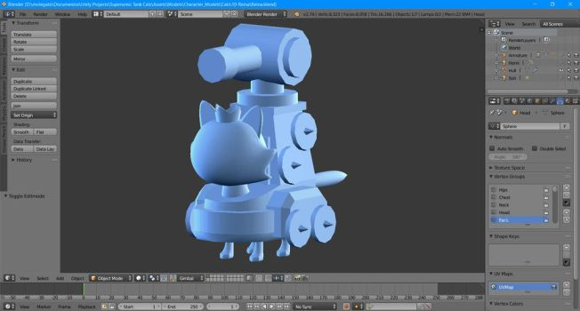 Supersonic Tank Cats: WIP new character? by molegato