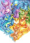 Eeveelutions by TrollGirl