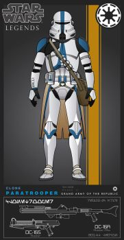 Clone Paratrooper (501st Legion) by efrajoey1