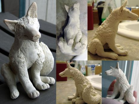 canine sculpture by Tidma