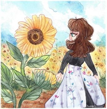 The Summer Sunflowers. by AnnaVintage