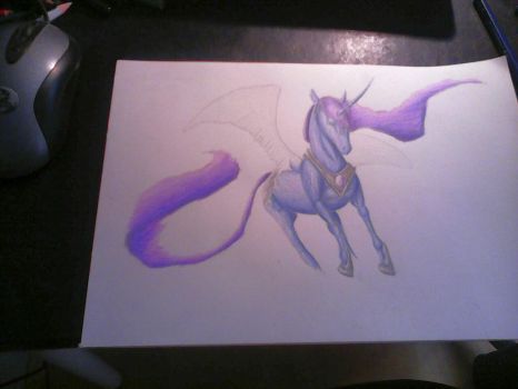 Realistic Princess Luna (WIP) by wolf-of-blood