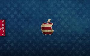 Apple Stars and Stripes Jeans Wallpaper by LindsayCookie