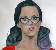 Katy Perry Funny Face Portrait by ghosthorror