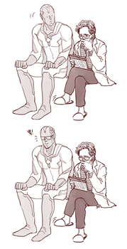 Vision and Dr.Banner by ttx6666
