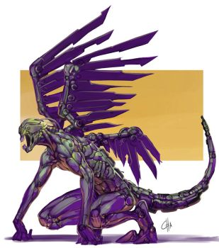 Biomechanical Entity from Hell by bokuman