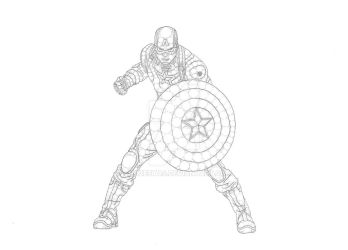 Captain America by Anqueetas