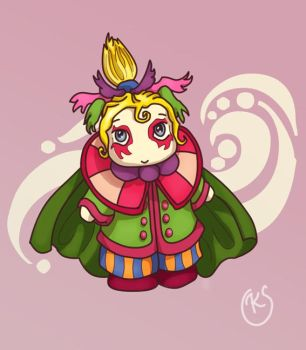 Chibi Kefka coloured by sweetvillain