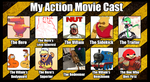 Action Movie Cast by GGArtwork