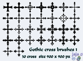 Gothic cross brushes 1 by jojo-ojoj