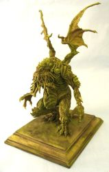 Cthulhu maquette by shaungent