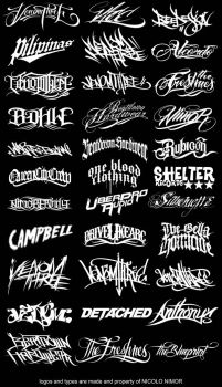 LOGOS AND TYPES by mrchugchug