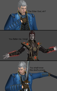 Mortal Kombat X: Vergil vs Shinnok by xXTrettaXx