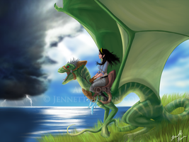 Dragon Rider by sugarpoultry