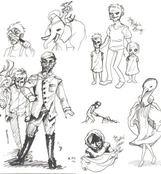 Decemberists Sketch Page by GeniusBee