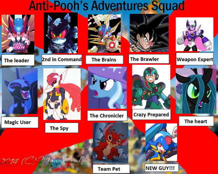 Evil anti Pooh's adventure squad by BlakeandAlex12