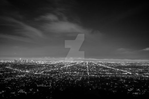 Los Angeles BW by P-LinsenerFotografie
