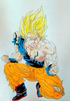 Goku- Dragon Ball Z by phkfrost