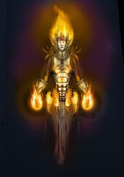 Fire lady by Smilechaos
