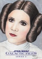 Star Wars GF S2 - Princess Leia Sketch Art Card 2 by DenaeFrazierStudios