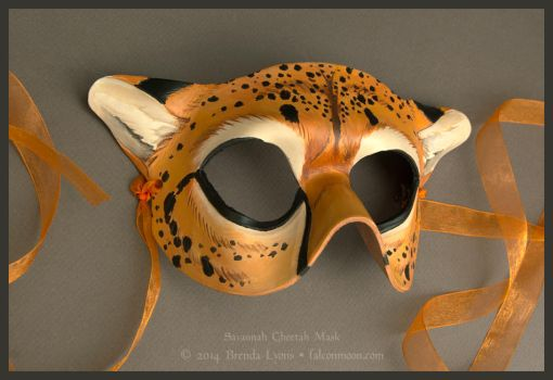 Savannah Cheetah - Leather Mask by windfalcon