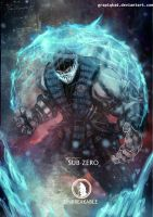 Mortal Kombat X- Sub Zero Unbreakable  Variation by Grapiqkad