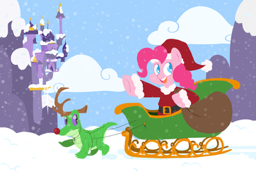 Pinkie Claus by FrogAndCog