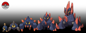 524 - 526 Roggenrola Line by InProgressPokemon