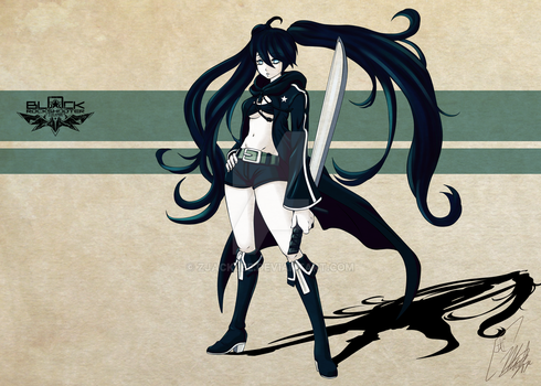 Black Rock Shooter colored by Zjacklee