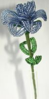 French Beaded Flower - Blue Rose by Professor-Who