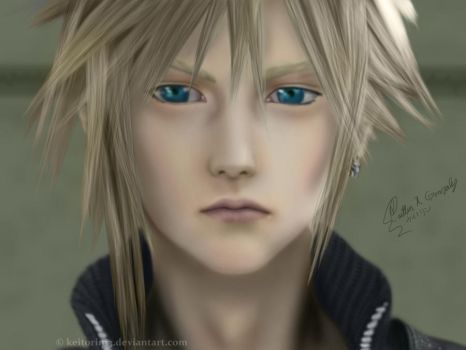 Cloud Strife - Digital Paint by Keitorin13