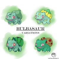 Bulbasaur Variations by NoirSov